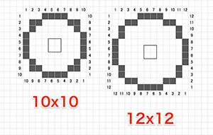 10x10 12x12