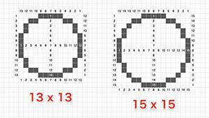 13x13 15x15
