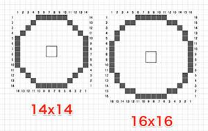 14x14 16x16