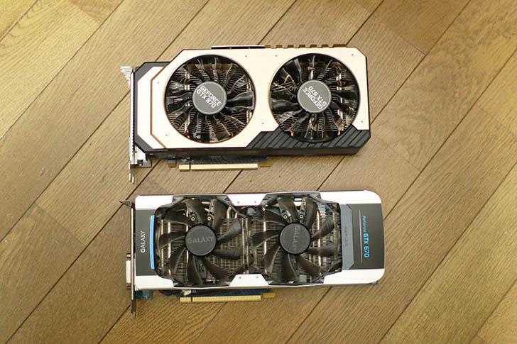 GTX970 670 サイズ比較